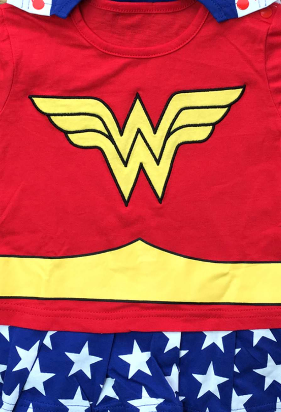 Wonder Woman Suit with Cape Baby Grow