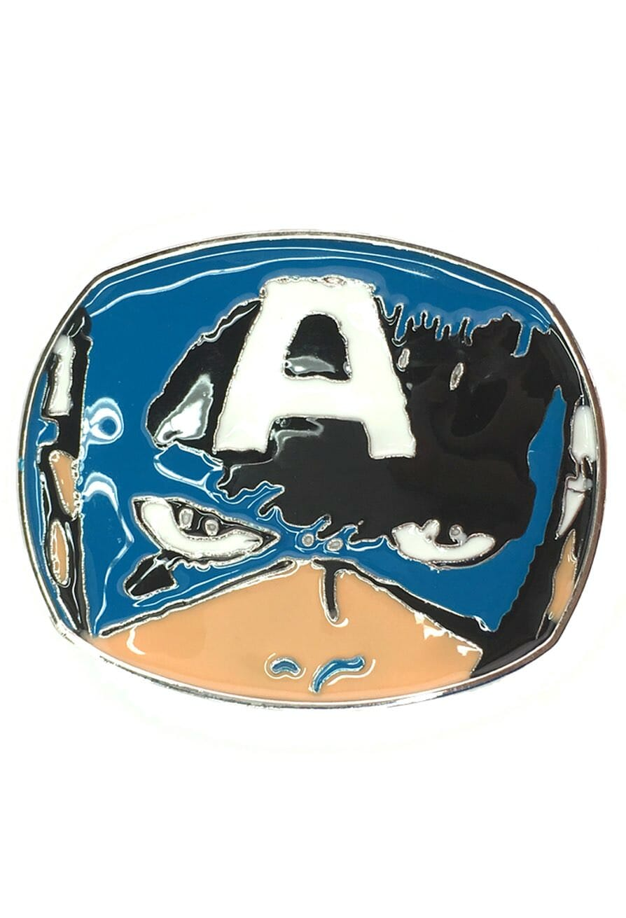 Captain America Face Belt Buckle Inspired by Marvel Comics