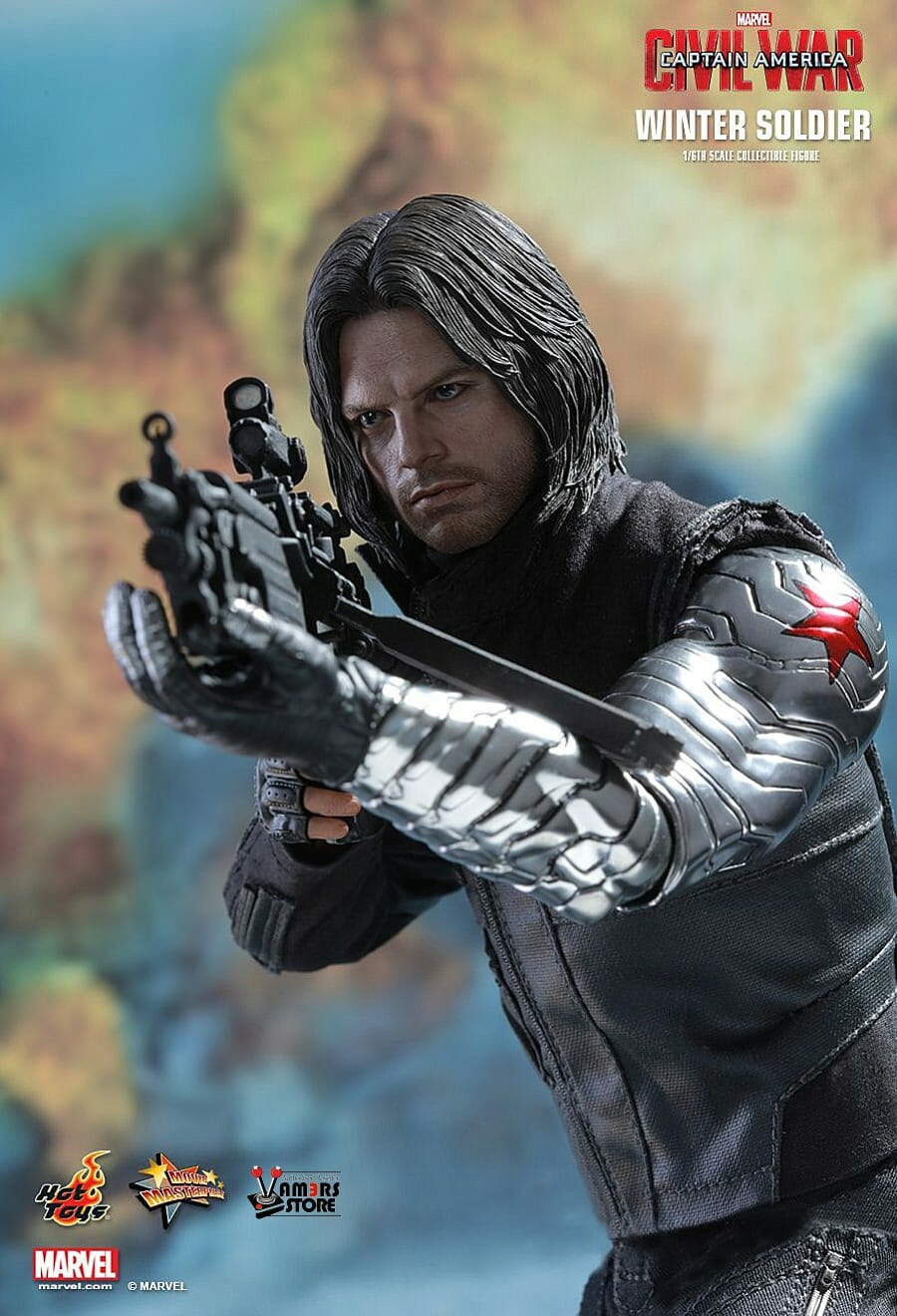 """Marvel Captain America Civil War Winter Soldier Figure 7/"""" Toy New in Card"""