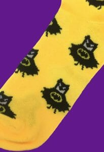 Batman Caricature Socks inspired by DC Comics