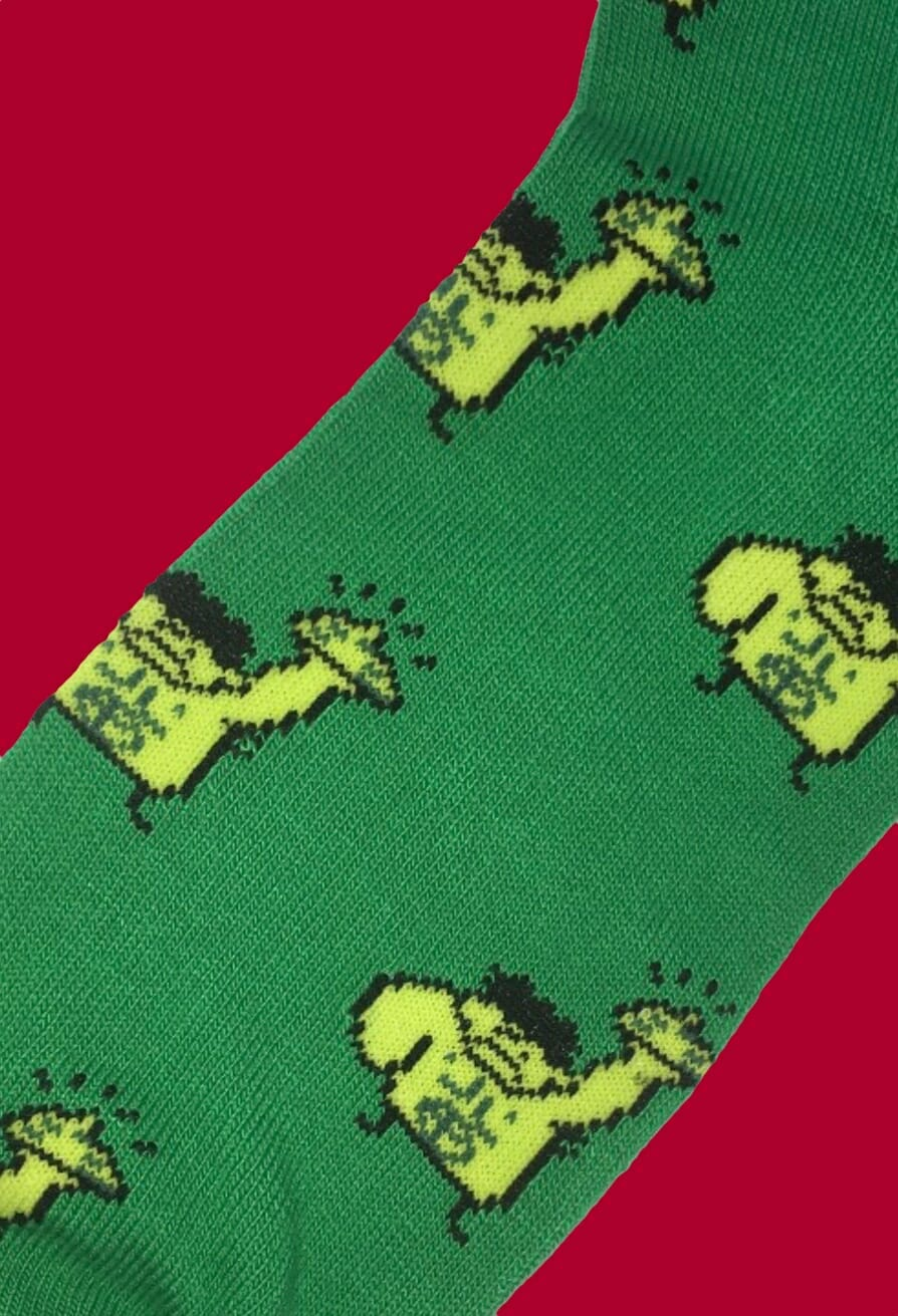 Incredible Hulk Caricature Socks inspired by Marvel Comics