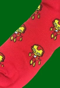 Iron Man Caricature Socks inspired by Marvel Comics